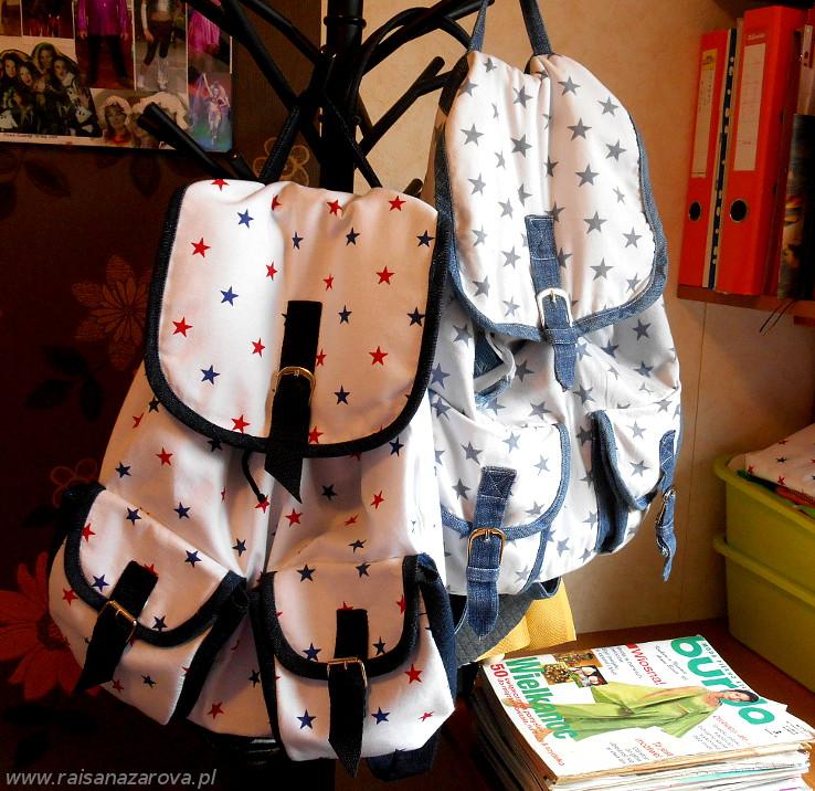 8 plecaki 2 mniejsze