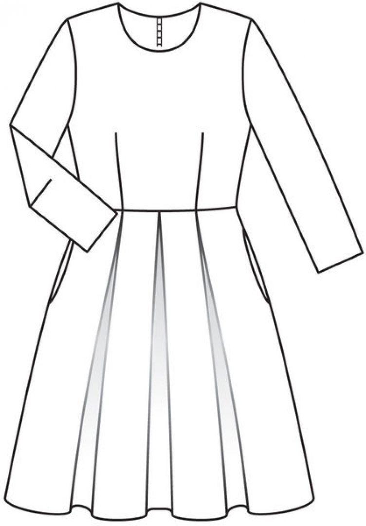 sukienka kopciuszkowa wykroj