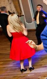 tyl sukienki w tancu