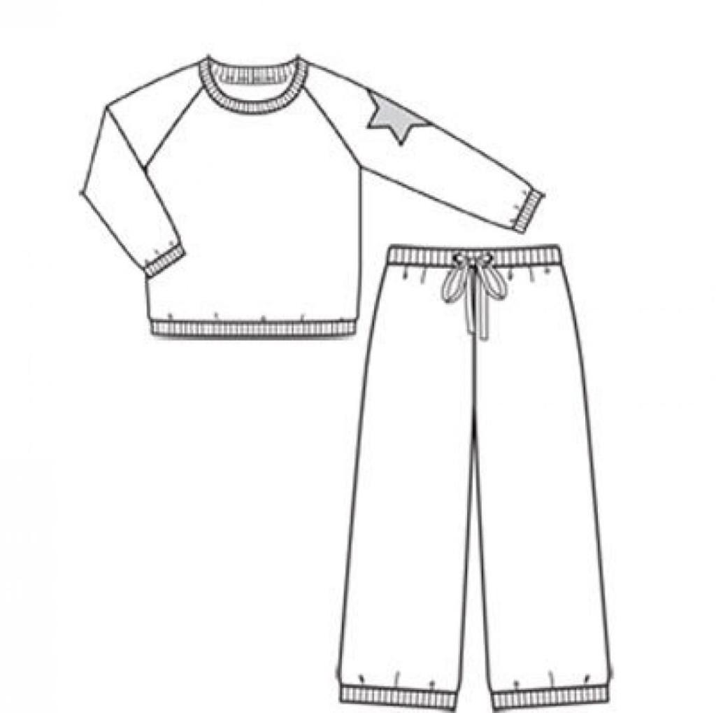 wykrój piżama