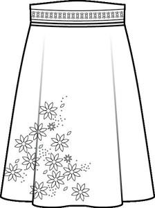 wykroj spodnica