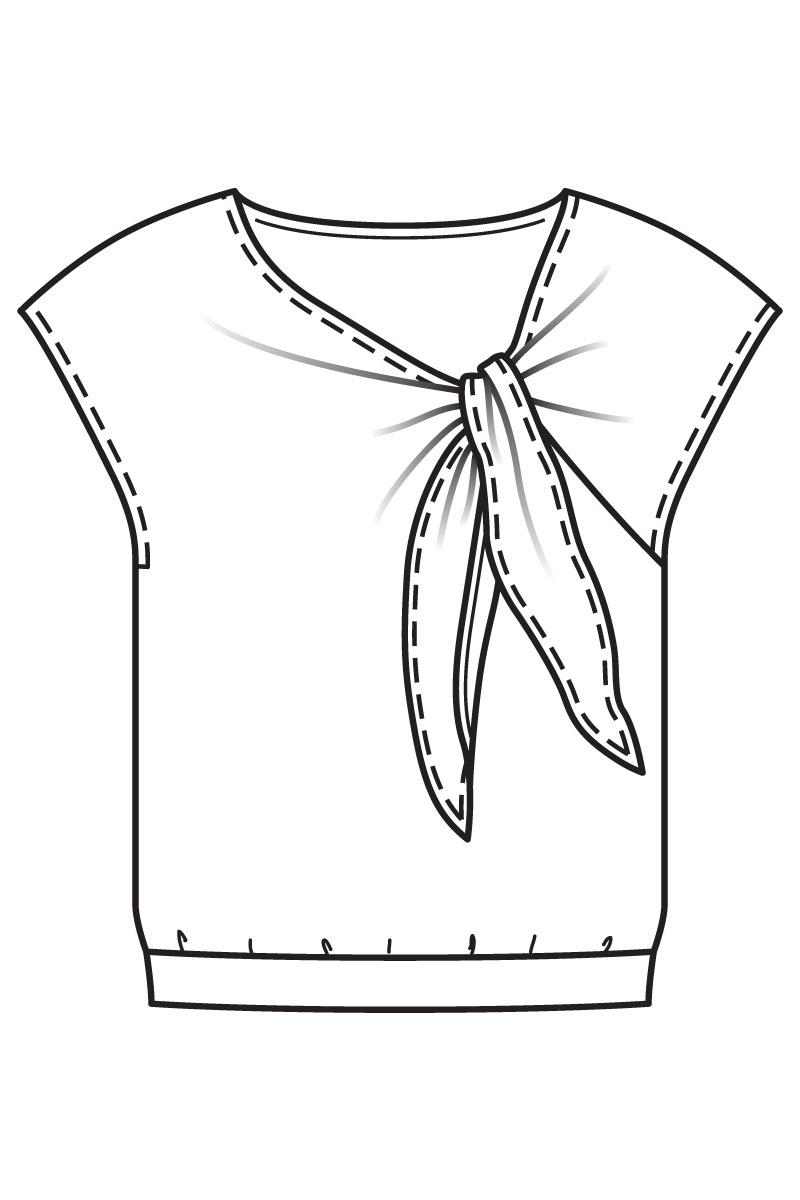 wykroj bluzki