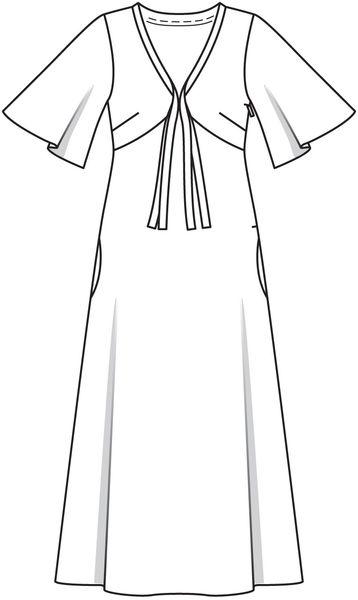 wykroj sukienki