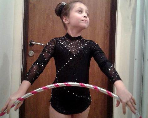 Strój do gimnastyki artystycznej dla Zosi