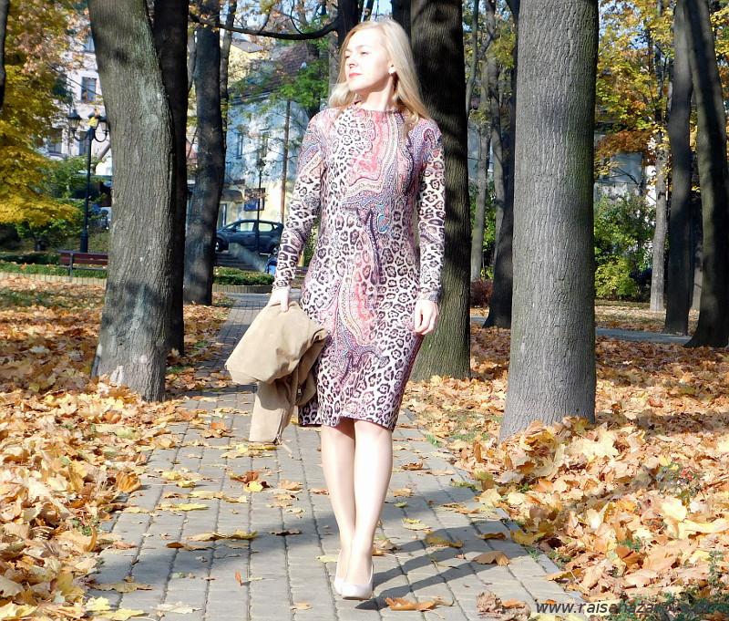 Drapieżna listopadowa sukienka