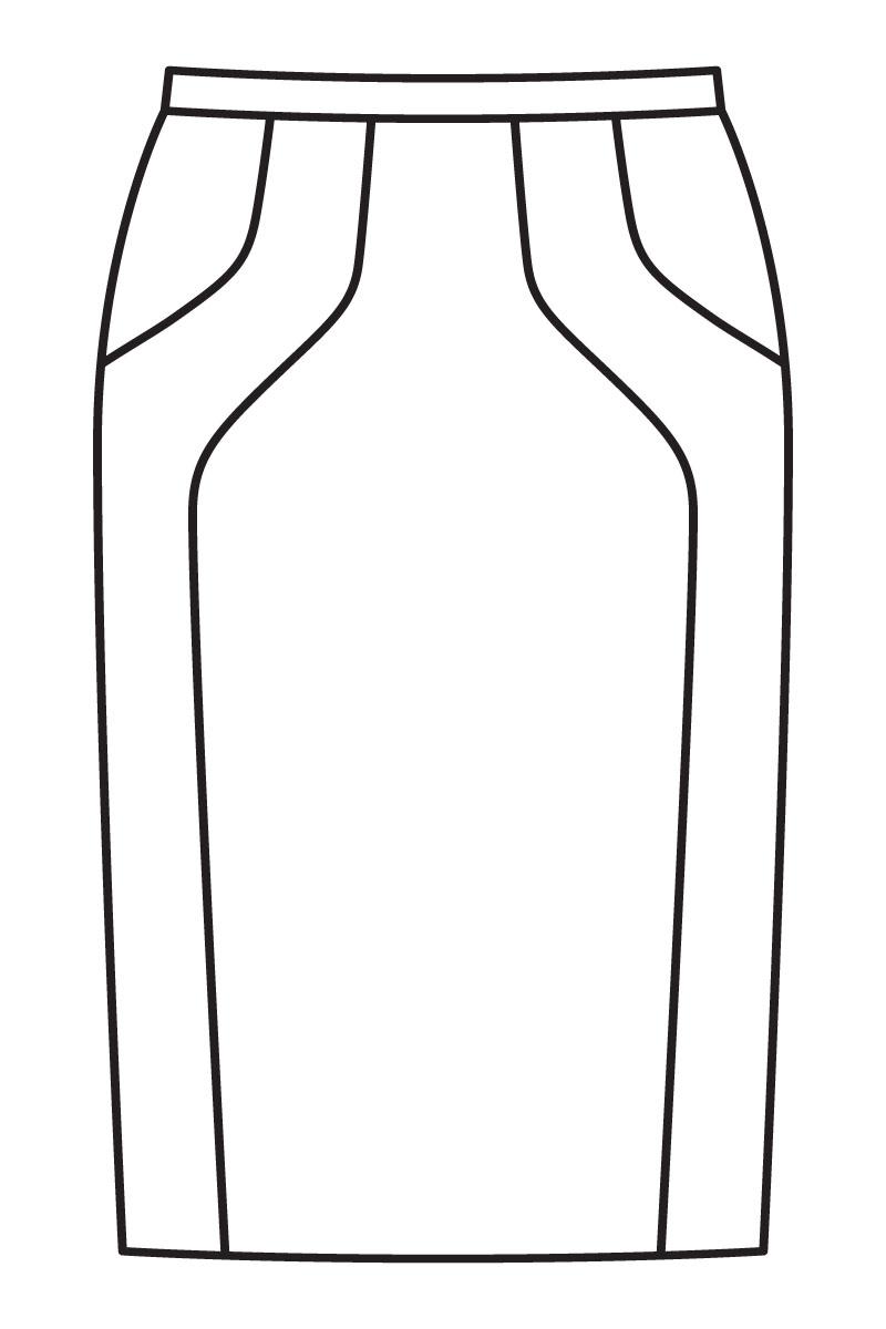 wykrój spódnica