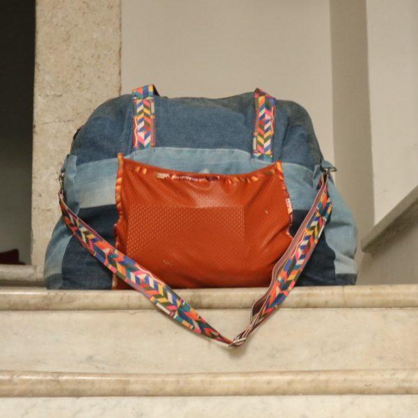 Dżinsowa torba z recyklingu - bagaż podręczny