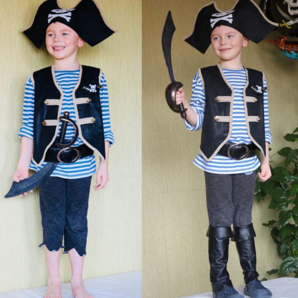 Strój pirata dla sześciolata. Burda 1/2018