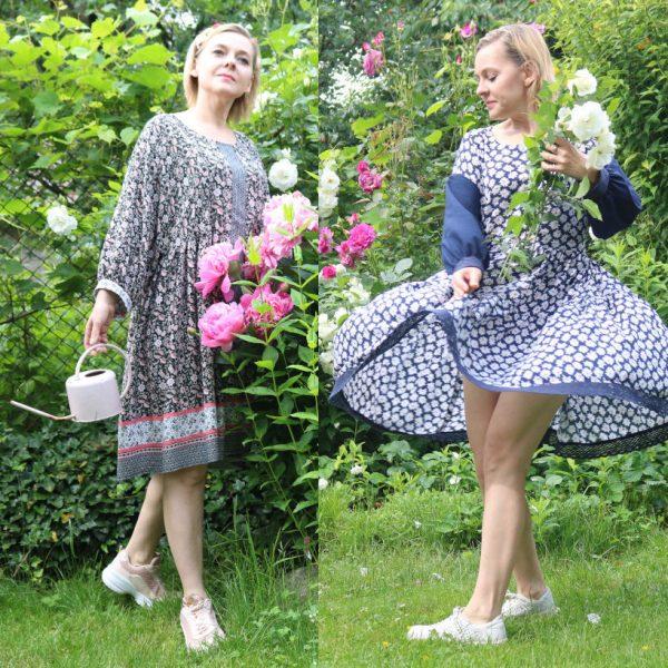Domowe sukienki lato 2020. Burda 4/2020,  5/2020 modele 113